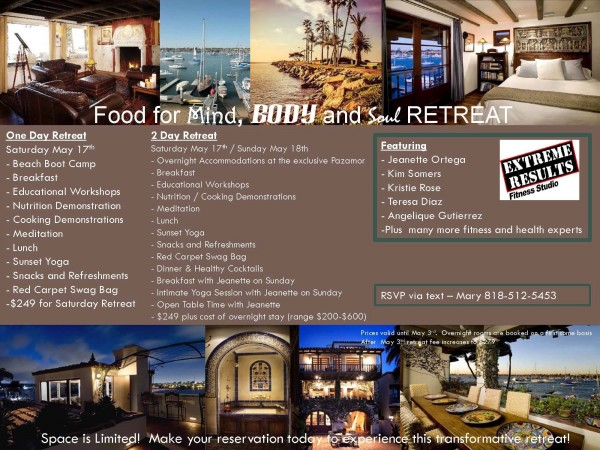 Please join us for our amazing Destination Fitness Retreat in Newport BEACH!