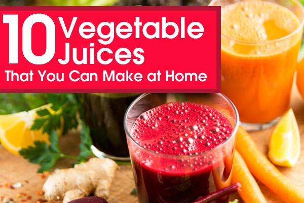 Home Veggie Juice Refreshers