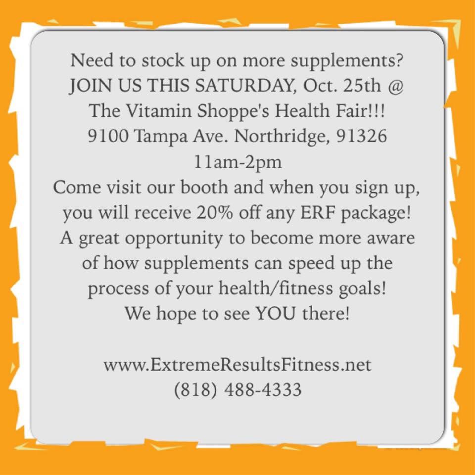 oct. 25th health fair