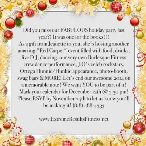 2014 holiday party flyer