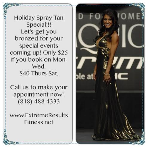2014 holiday spray tan special