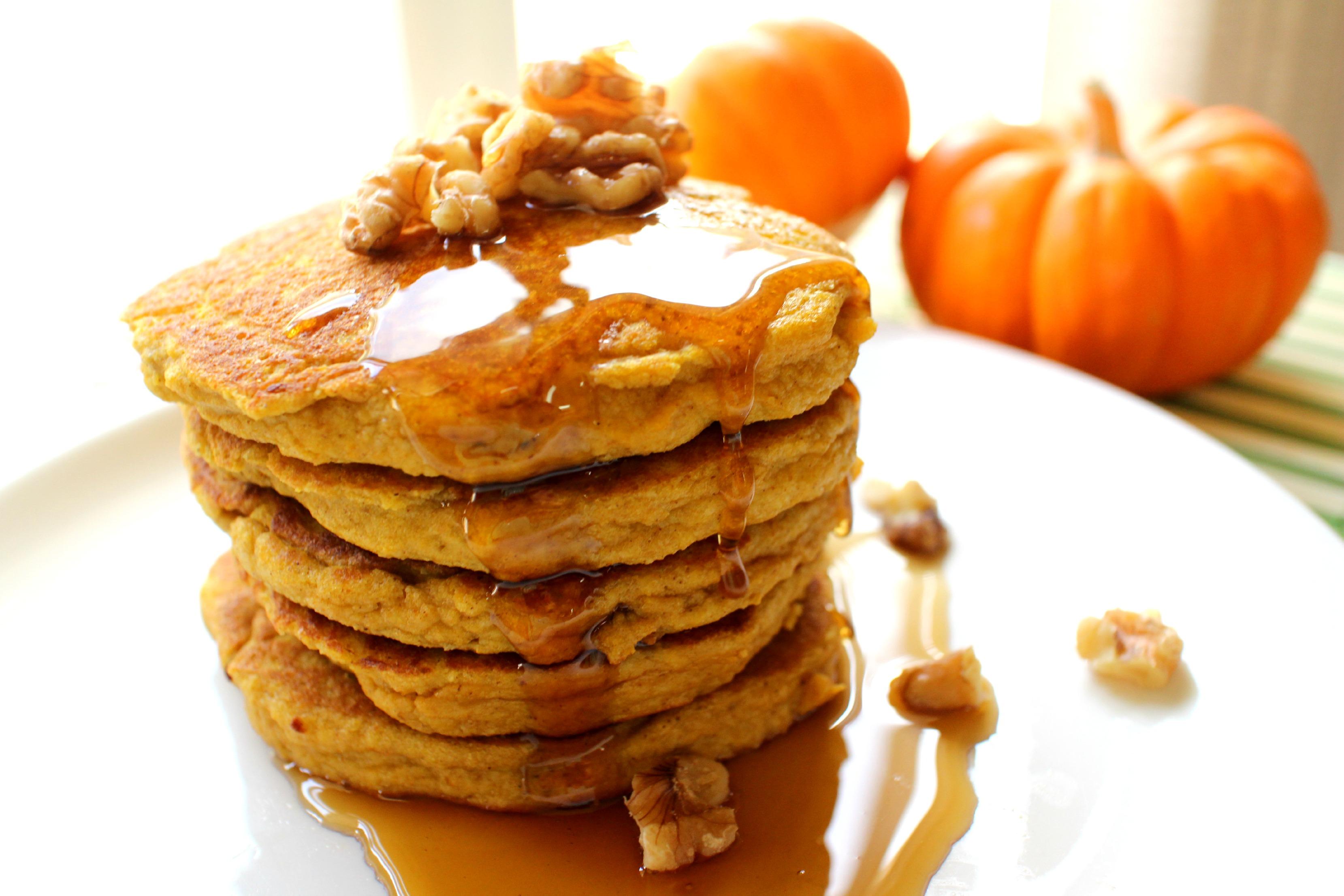 Pumpkin Protein Pancakes, YUM!!!