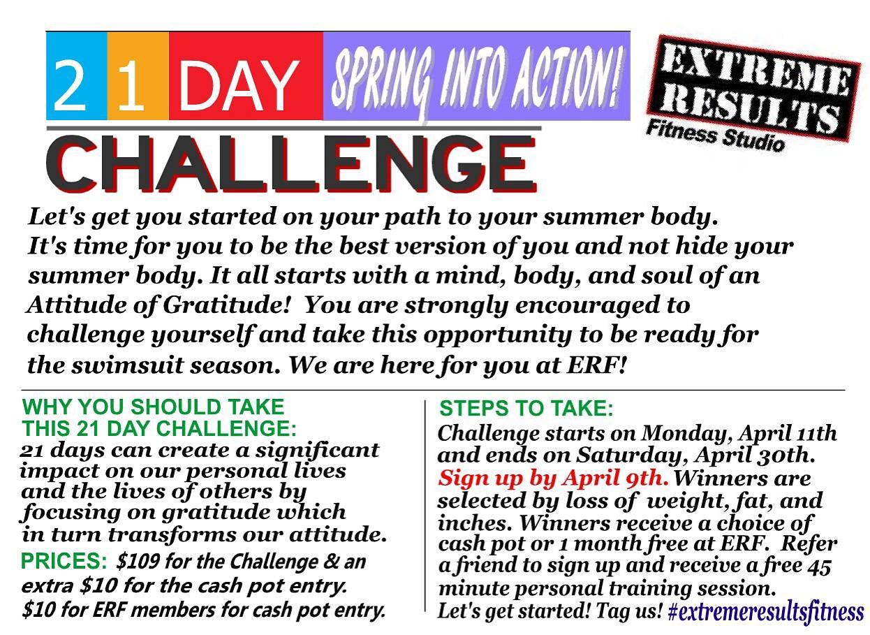 #21daySpringIntoActionChallenge