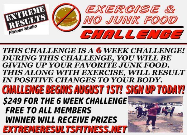Exercise & No Junk Food Challange